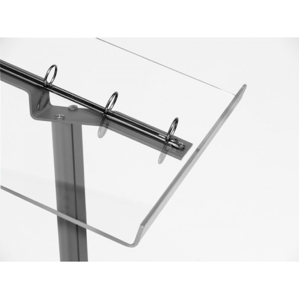 Pupitre en aluminium anodisé et présentoir acrylique