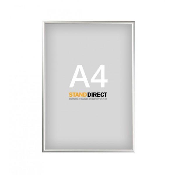 Cadre clippant aluminium A4, profilé 25mm