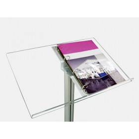 Infoständer aus eloxiertem Aluminium und Acryl Display