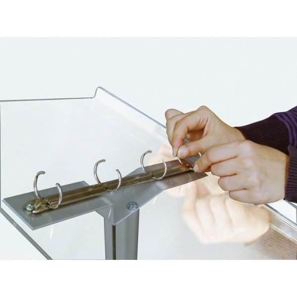 Lessenaar met ringen voor A4-vellen