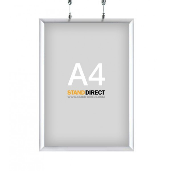 Cadre clic-clac A4 à suspendre (double face)