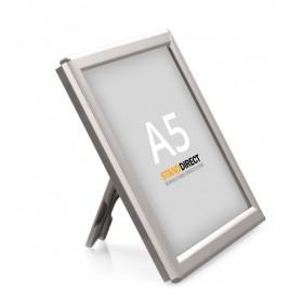 OptiFrame Klapprahmen mit Aufsteller (Silber) - A5