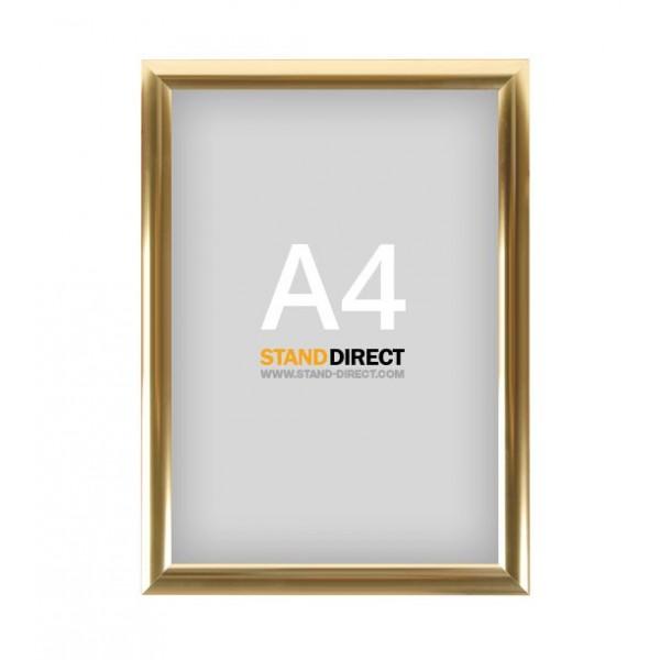 A4 Klapprahmen Gold