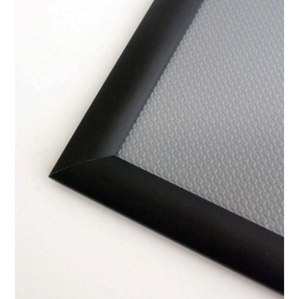Kliklijst uit geanodiseerd aluminium, zwart kleurig