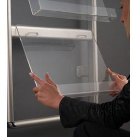 Aluminium Wandprospekthalter für Broschüren und Zeitschriften