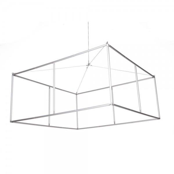Structure aluminium du cube suspendu