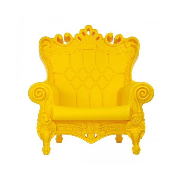 """Fauteuil """"Queen of Love"""" jaune"""