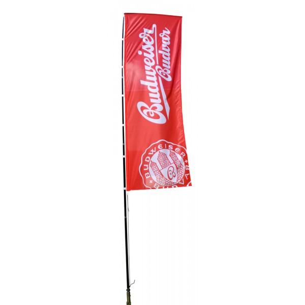 Riesiger rechteckiger Beachflag (3,5m - 4,5m - 5,5m)