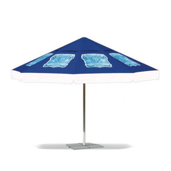 Werbe-Sonnenschirm rund