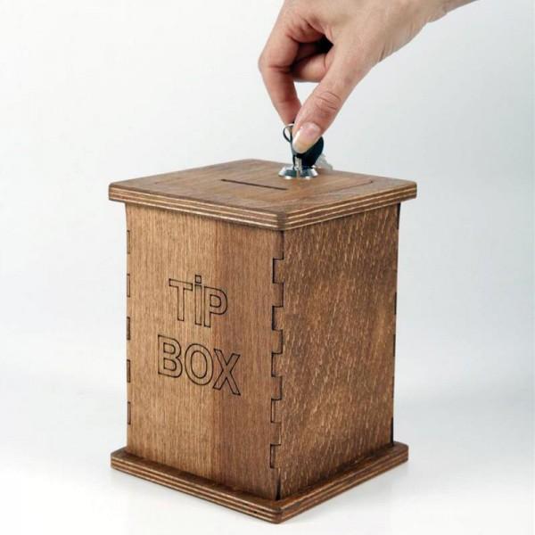 Fooien doos van massief hout