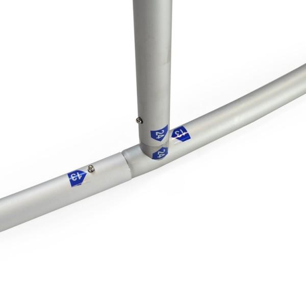 Structure de stand aluminium - Montage facile: éléments numérotés