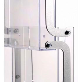 Porte brochure portable avec bacs acrylique