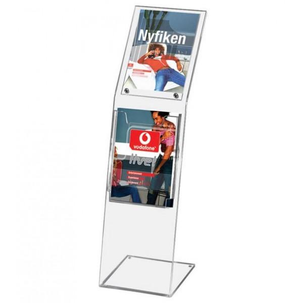Porte-brochures plexiglas avec porte-affiche