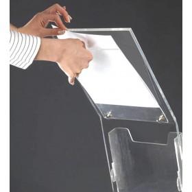 Porte-brochures plexiglas avec présentoir A4