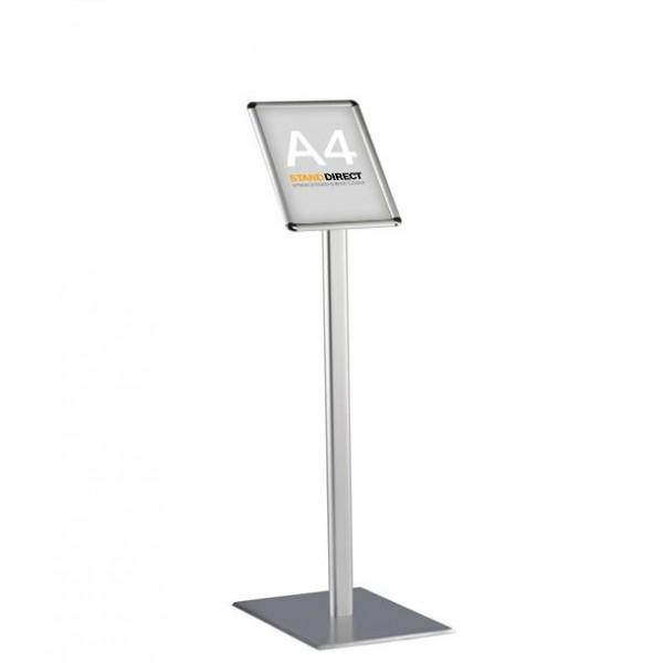 Infoständer mit Fußplatte, A4-Format