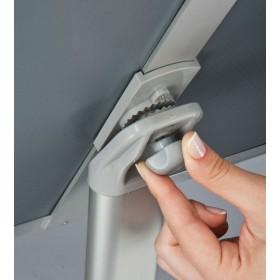 Infoständer im A4 oder A3 Format, im Hoch- oder Querformat einstellbar