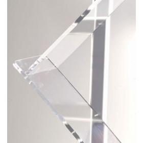 Aluminium- und Plexiglas-Bodenständer