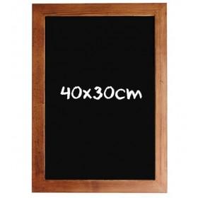 Ardoise avec cadre en bois - 40x30cm
