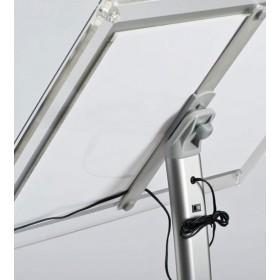 Gewölbter LED Infoständer Aluminium - A4 - Eloxiertes Aluminium