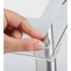 Présentoir LED: fixation de l'affiche