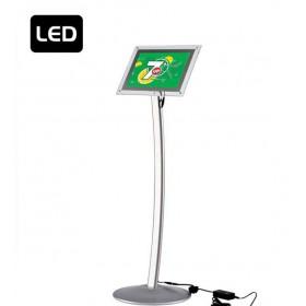 Gebogen menubord acryl LED aluminium - A4 - Geanodiseerd aluminium