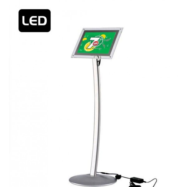 Gewölbter LED Infoständer