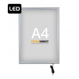 "Cadre lumineux ""SMART LED Box"", simple face - A4 (21 x 29,7cm)"