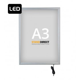 "Cadre lumineux ""SMART LED Box"", simple face - A3 (29,7 x 42cm)"