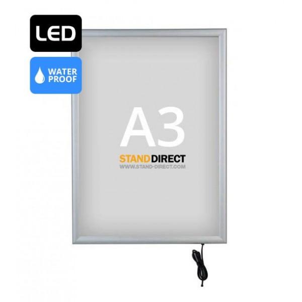 Cadre LED lumineux étanche A3