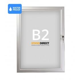 Panneau d'affichage imperméable et verrouillable - B2 (50 x 70,7cm)