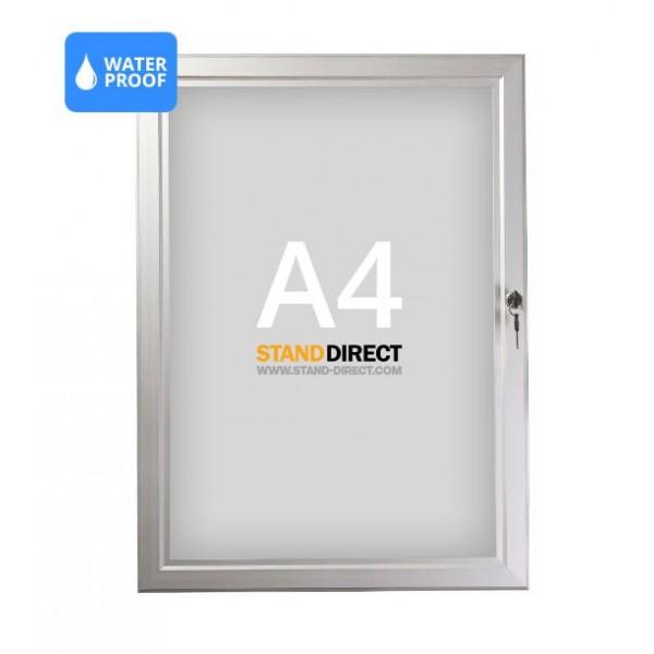 Panneau d'affichage imperméable et verrouillable A4
