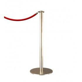 Poteau à corde DESIGN - Inox brossé