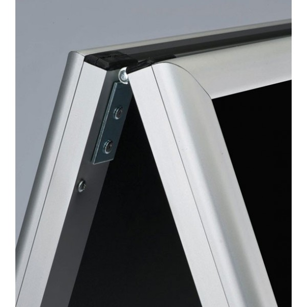 Kundenstopper / Kreidetafel (Aluminium Natur eloxiert).