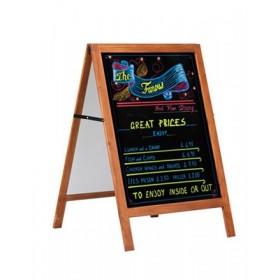 Houten schildersezel met krijtbord - 60x80cm