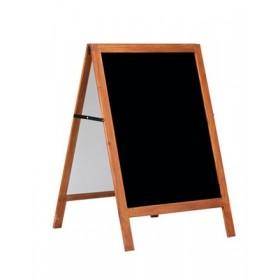 Chevalet en bois massif avec tableau noir - 60x80cm