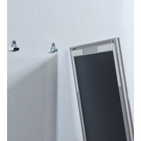 Tableau blanc sur cadre aluminium anodisé