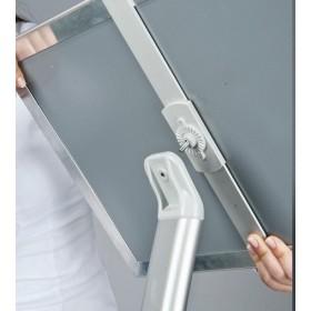 Infoständer gewölbt, silber - A4 - Eloxiertes Aluminium