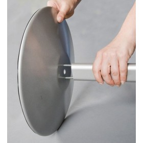Ständer aus eloxiertem Aluminium A3 oder A4 mit gebogenem Fuß