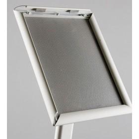 Infoständer gewölbt, silber - A3 - Eloxiertes Aluminium