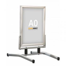 Stoepbord op veren - A0 - Geanodiseerd aluminium