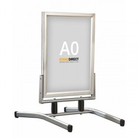 Stop-trottoir publicitaire sur ressort - A0 (84 x 118,8cm) - Aluminium anodisé