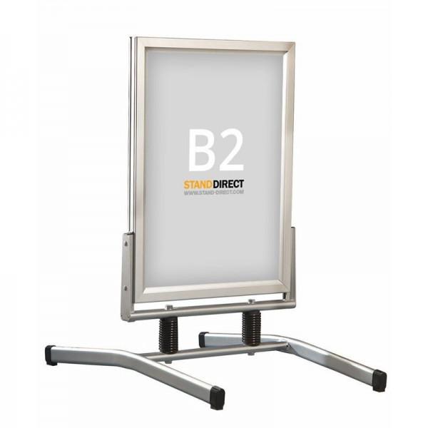 B2 Kundenstopper auf Stahlfedern