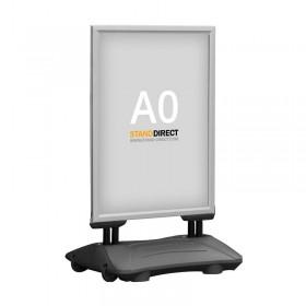 Kundenstopper WindPro - A0 - Eloxiertes Aluminium