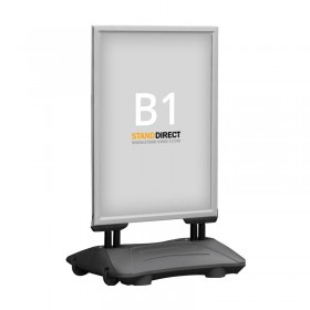 Kundenstopper WindPro - B1 (70,7 x 100cm) - Eloxiertes Aluminium