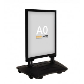 Kundenstopper WindPro - A0 - Schwarz
