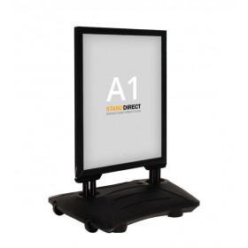 Stoepbord WindPro - A1 - Zwart