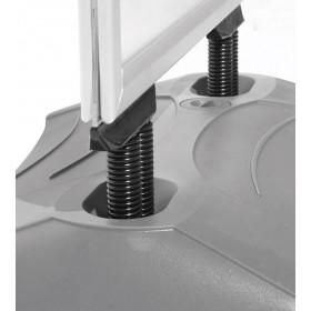 Kundenstopper WindPro - B2 (50 x 70,7cm) - Eloxiertes Aluminium