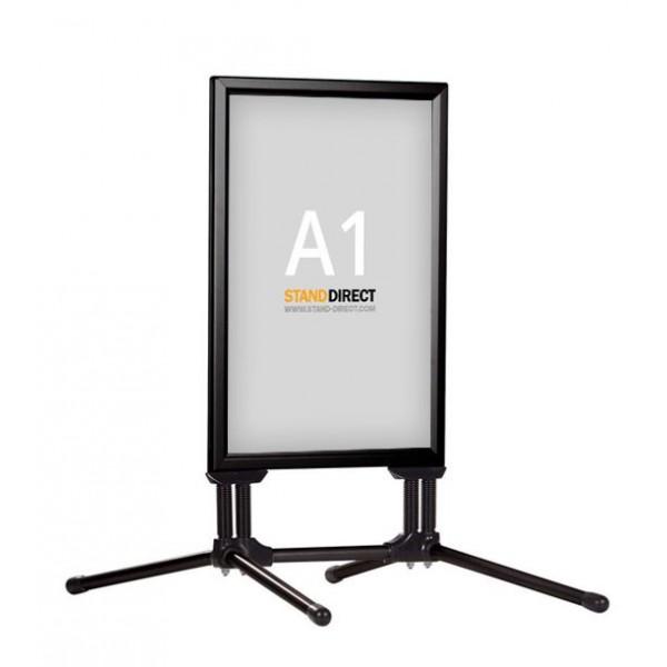 A1 Swing Pro Kundenstopper - schwarz