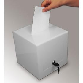 Urne de vote blanche