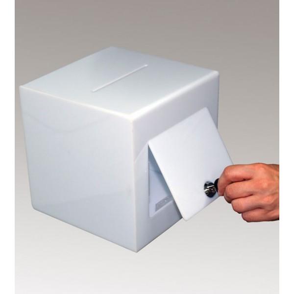 Kleine plexiglas stembus met slot
